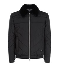 Stefano Ricci Quilted Silk Bomber Jacket Male Black