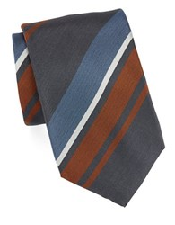 Vince Camuto Striped Silk Tie Orange