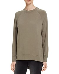 Michelle By Comune Side Zip Sweatshirt 100 Bloomingdale's Exclusive Olive
