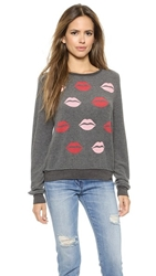 Wildfox Couture Make Out Party Pullover Dirty Black