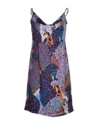 Pam And Arch Short Dresses Purple