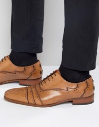 Jeffery West Capone Leather Oxford Brogues Tan
