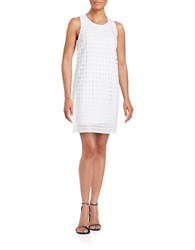 Catherine Malandrino Crocheted Shift Dress White