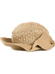 Ca4la Bow Detail Woven Hat Nude And Neutrals