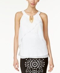 Thalia Sodi Embellished Halter Top Only At Macy's White
