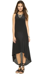 Bop Basics Twist Back Silk Dress Black