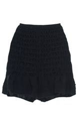 Huishan Zhang Mini Smocked Shorts Black