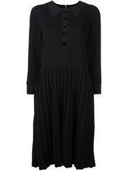 Marc Jacobs Pleated Midi Dress Black