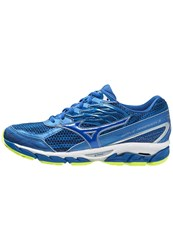 Mizuno Wave Paradox 3 Stabilty Running Shoes French Blue Skydiver Safety Yellow