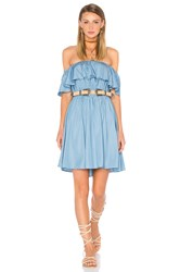 Lucy Paris Strapless Dress Blue