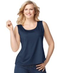 Charter Club Plus Size Tank Top Intrepid Blue