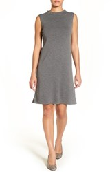 Eileen Fisher Petite Women's Funnel Neck Washable Wool Crepe Shift Dress