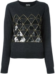 Markus Lupfer Geometric Panel Pullover Grey