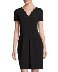 Tahari By Arthur S. Levine Double Woven Ring Dress Black