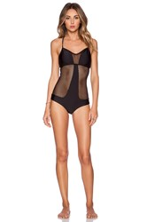 Luli Fama For Your Eyes Only Net Swimsuit Black