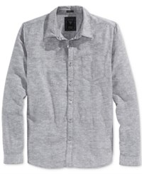 Guess Men's Long Sleeve Slim Fit Chambray Shirt Phantom Multi