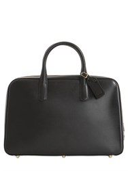 Ohba Slim Overnight Leather Briefcase