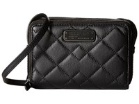 Marc By Marc Jacobs Crosby Quilt Leather Gemini Crossbody Black Cross Body Handbags