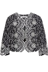 Oscar De La Renta Cutout Boucle Jacket Blue