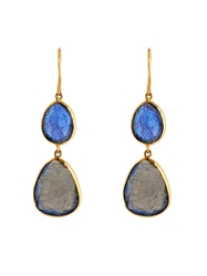 Pippa Small Labradorite And Yellow Gold Earrings