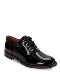 Marc Jacobs Helena Polished Patent Leather Lace Up Oxfords Black