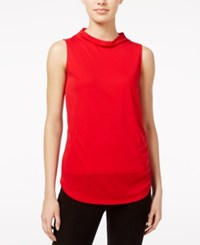 Armani Exchange Cowl Neck Shell Absolute Red