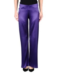 D.Exterior Casual Pants Purple