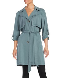 7 For All Mankind Lightweight Trench Coat Storm Grey