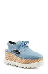 Stella Mccartney Women's 'Elyse' Cutout Platform Oxford Blue