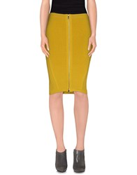 Guess By Marciano Skirts Knee Length Skirts Women Acid Green