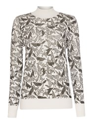 Pied A Terre Wolf Print Jumper Off White