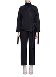 3.1 Phillip Lim Quilted Utility Cotton Kimono Jacket Black