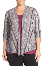Nic Zoe Plus Size Women's 'Balance' 4 Way Convertible Cardigan Multi