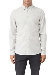 Allsaints Shire Slim Fit Cotton Shirt Grey