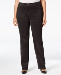 Charter Club Plus Size Tummy Control Corduroy Pants Only At Macy's Rich Truffle