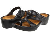 Naot Footwear Montreal Black Madras Women's Slide Shoes