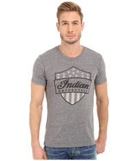 Lucky Brand Indian Shield Graphic Tee Grey Men's T Shirt Gray