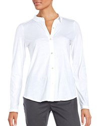 Eileen Fisher Petite Solid Cotton Shirt White
