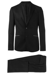 Z Zegna Buttoned Two Piece Suit Black