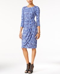 Bar Iii Printed Faux Wrap Sheath Dress Only At Macy's Midnite Kiss Combo