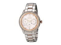 Citizen Fd2016 51A Eco Drive Silhouette Crystal Two Tone Stainless Steel Analog Watches Silver