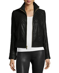 Neiman Marcus Pearlized Quilted Leather Jacket