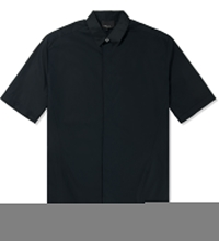 3.1 Phillip Lim Navy S S Button Up With Combo Collar Shirt