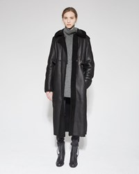 Acne Studios Fergus Shearling Coat Black