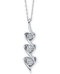 Sirena Diamond Heart Pendant Necklace In 14K White Gold 1 5 Ct. T.W. No Color