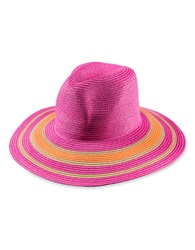 T And C Theodora And Callum Striped Floppy Hat Pink