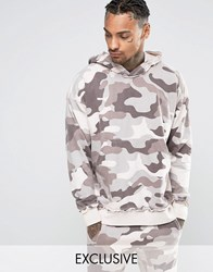 Other Uk Oversized Camo Hoodie With Raw Edges Pink