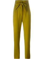 Olympia Le Tan High Waisted Trousers Green