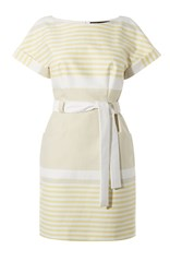 Karen Millen Sunshine Stripe Dress Cream
