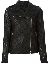 Giorgio Brato Lace Effect Biker Jacket Black